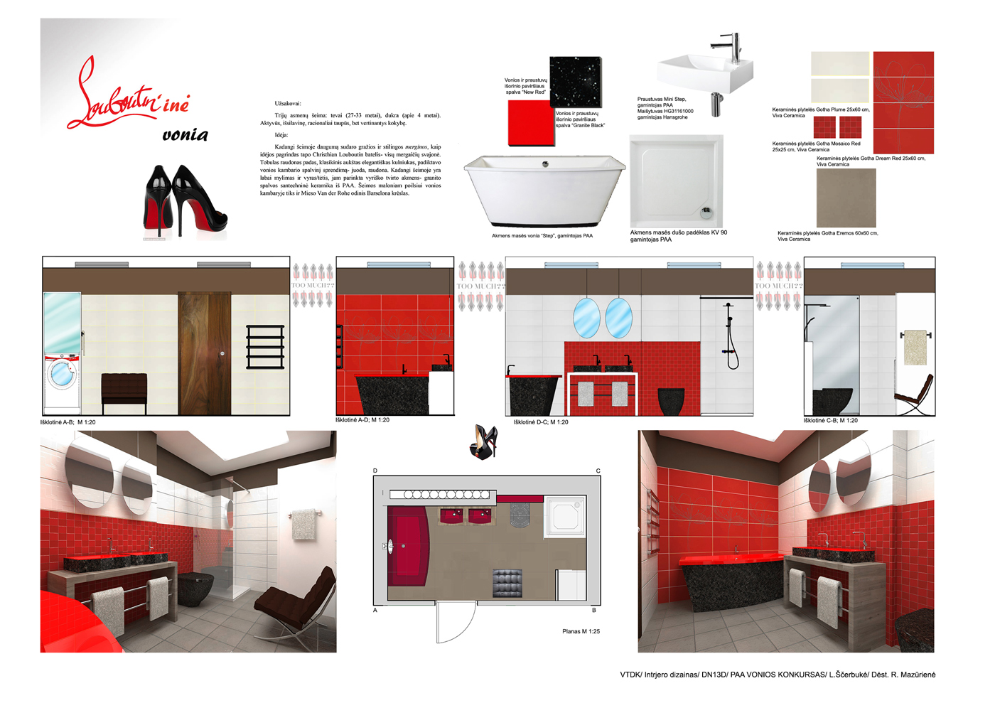 PAA Design Contest 2015 Lithuania Lina Erbuk Louboutine Bathtub