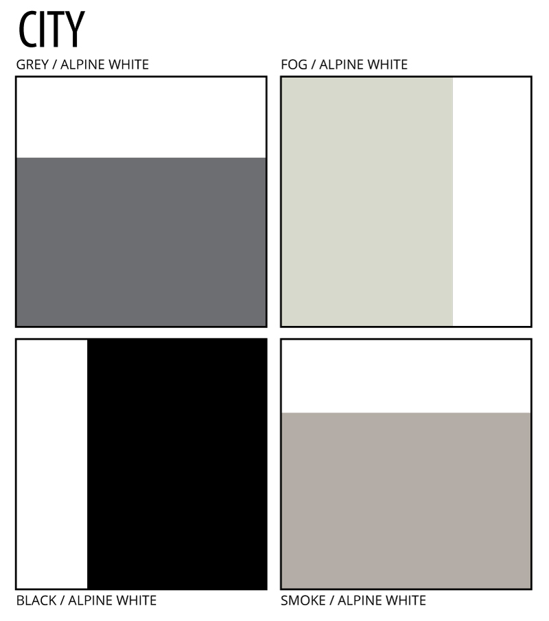 Architectual colours of city it is PAA CITY palettes cololours - GREY, FOG, BLACK, SMOKE