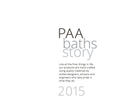 PAA baths story 2015 design catalogue for bathtubs and washbasins