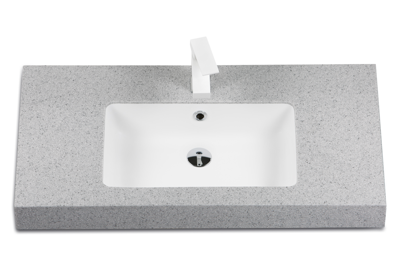 Silkstone washbasin Opus Silk in duo-colour combination - with surface painted in Matte Shadow and bowl Matte White