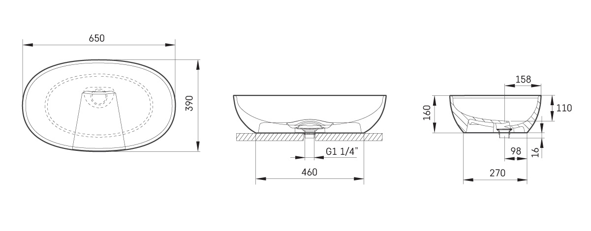 Washbasins Bella Silk - print--save-page drawing