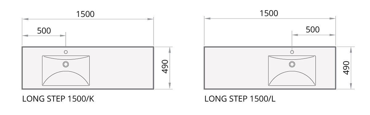 Long Step 1500 (Left/Right) drawing