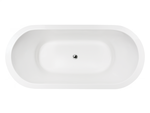 High quality acrylic free standing bathtub Opera-1850x850 mm top view