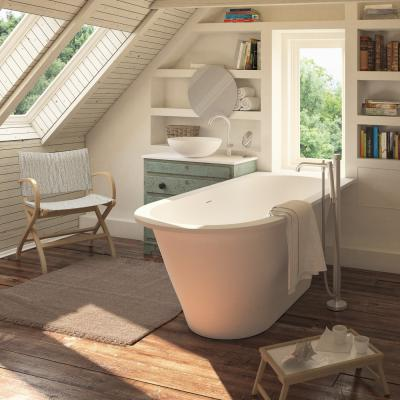 PAA Silkstone bathtub Deco Shape integrated in sill