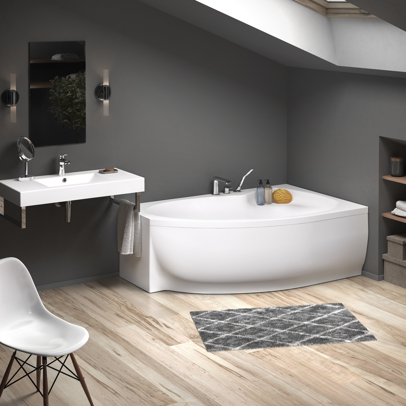 Cello About Art No Drawings Bathtubs Massage Systems Showertrays Bathroom Furniture Washbasins Back Paa Baths Acrylic Cello 1700x1100mm Interior White Paa Baths Acrylic Corner Bathtub Cello 1700x1100mm White With Front Panel Paa Akrila