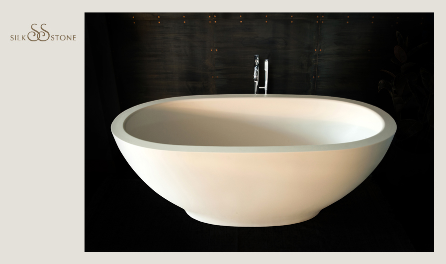 PAA Silkstone bathtub Dolce with mixer